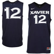 Nike Xavier Musketeers #12 Replica Basketball Jersey - Navy Blue
