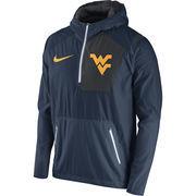Men's Nike Navy West Virginia Mountaineers 2016 Sideline Vapor Fly Rush Half-Zip Pullover Jacket