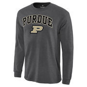 Men's Charcoal Purdue Boilermakers Campus Long Sleeve T-Shirt
