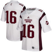 Men's adidas White Mississippi State Bulldogs Wicked Dog Replica Football Jersey