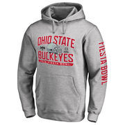 Men's Fanatics Branded Heather Gray Ohio State Buckeyes College Football Playoff 2016 Fiesta Bowl Bound Playbook Pullover Hoodie