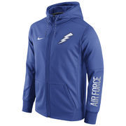 Men's Nike Royal Air Force Falcons Circuit Full-Zip Performance Hoodie