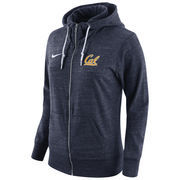 Women's Nike Navy Cal Bears Tailgate Gym Vintage Full-Zip Hoodie