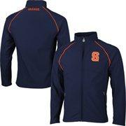 Mens Syracuse Orange Navy Blue Soft Shell Full Zip Jacket