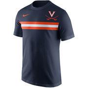 Men's Nike Navy Virginia Cavaliers Team Stripe T-Shirt