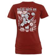 Women's Crimson Alabama Crimson Tide vs. Auburn Tigers 2015 Rivalry Score Slim Fit T-Shirt