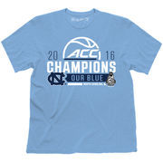 Men's The Victory Light Blue North Carolina Tar Heels 2016 ACC Men's Basketball Conference Champions Locker Room T-Shirt