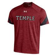 Men's Under Armour Garnet Temple Owls 2016 Sideline Microstripe Performance T-Shirt