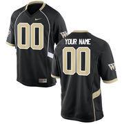 Nike Mens Wake Forest Demon Deacons Custom Replica Football Jersey - Black