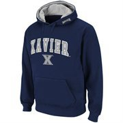 Mens Xavier Musketeers Navy Blue Classic Arch Logo Twill Hoodie