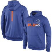 Men's Nike Royal Boise State Broncos 2015 Sideline KO Fleece Therma-FIT Performance Hoodie