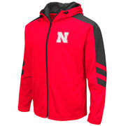 Men's Colosseum Scarlet Nebraska Cornhuskers Big & Tall Top Gun Full-Zip Jacket