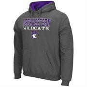 Mens Northwestern Wildcats Charcoal 3 Stack II Pullover Hoodie