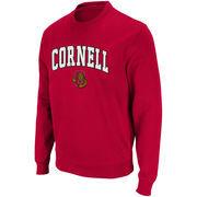 Cornell Big Red Youth Arch Logo Crew Sweatshirt - Carnelian