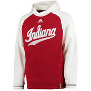 Men's adidas Red Indiana Hoosiers 2016 Sideline Player climawarm Hoodie