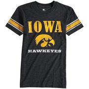 Youth Colosseum Black Iowa Hawkeyes Free Agent T-Shirt