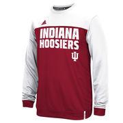 Men's adidas Crimson Indiana Hoosiers 2015 Sideline Shock Energy climalite Crew Sweatshirt