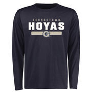 Men's Navy Georgetown Hoyas Team Strong Long Sleeve T-Shirt