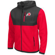 Men's Colosseum Red/Charcoal Utah Utes Miramar Full-Zip Jacket