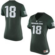 Women's Nike No. 18 Green Michigan State Spartans Game Replica Football Jersey