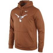 Men's Nike Burnt Orange Texas Longhorns Practice Performance Hoodie
