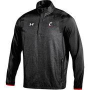 Men's Under Armour Black Cincinnati Bearcats Ace Woven Warm-Up Quarter Zip Jacket