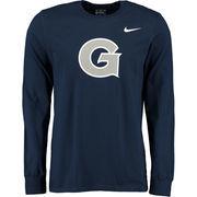 Men's Nike Navy Georgetown Hoyas Big Logo Long Sleeve T-Shirt