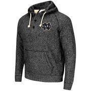 Men's Colosseum Heather Black Notre Dame Fighting Irish Roadster Pullover Hoodie
