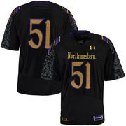 Men's Under Armour #51 Black Northwestern Wildcats Gothic Premier Jersey