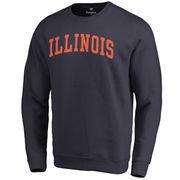 Men's Fanatics Branded Navy Illinois Fighting Illini Basic Arch Sweatshirt