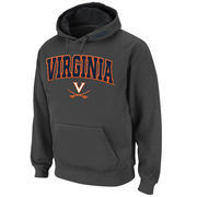Men's Stadium Athletic Charcoal Virginia Cavaliers Arch & Logo Pullover Hoodie
