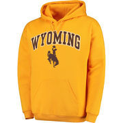 Men's Fanatics Branded Gold Wyoming Cowboys Campus Pullover Hoodie