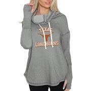 Women's Original Retro Brand Gray Texas Longhorns Triblend Funnel Neck Sweatshirt