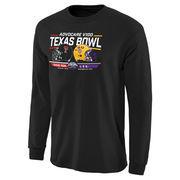 Men's Black Texas Tech Red Raiders vs. LSU Tigers 2015 Texas Bowl Bound Rundown Long Sleeve T-Shirt