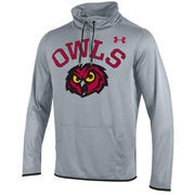 Men's Under Armour Heathered Gray Temple Owls Streamline Pullover Hoodie