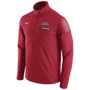 Men's Nike Heathered Red Ole Miss Rebels 2016 Elite Coaches Dri-FIT 1/2 Zip Jacket