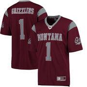 Men's Colosseum #1 Maroon Montana Grizzlies Hail Mary Football Jersey