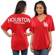 Women's Red Houston Cougars Oversized Spirit Jersey