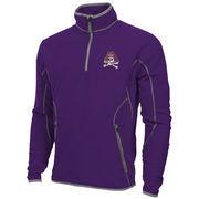 Mens East Carolina Pirates Antigua Purple Ice Quarter-Zip Fleece Jacket