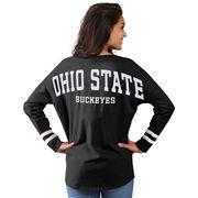 Women's Black Ohio State Buckeyes Cheer Long Sleeve Jersey T-Shirt