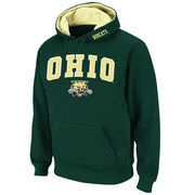 Men's Stadium Athletic Green Ohio Bobcats Arch & Logo Pullover Hoodie