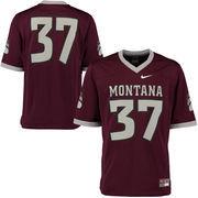 Men's Nike #37 Maroon Montana Grizzlies Game Jersey