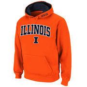 Men's Stadium Athletic Orange Illinois Fighting Illini Arch & Logo Pullover Hoodie