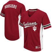 Men's Colosseum Crimson Indiana Hoosiers Batter Up Baseball Jersey