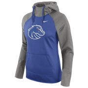 Women's Nike Royal Boise State Broncos Tailgate All-Time Pro Raglan Hoodie