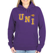 Northern Iowa Panthers Women's Acronym Pullover Hoodie - Purple