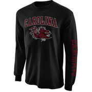 Mens South Carolina Gamecocks Black Arch & Logo Long Sleeve T-Shirt