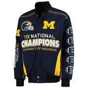 Men's Navy Michigan Wolverines Commemorative Twill Jacket