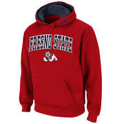 Men's Stadium Athletic Cardinal Fresno State Bulldogs Arch & Logo Pullover Hoodie