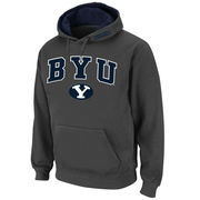 Men's Stadium Athletic Charcoal BYU Cougars Arch & Logo Pullover Hoodie